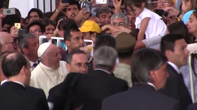 Pope Francis arrived at the See's official representation in the Chilean capital Santiago on Monday for a 7 day visit to Latin America