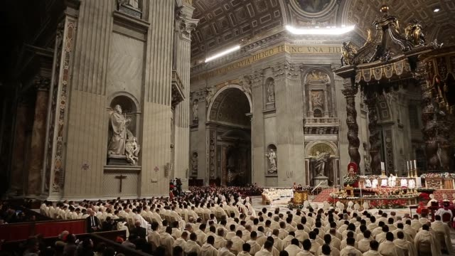 clean pope francis attends the christmas night mass in vatican city vatican - state of the vatican city stock videos & royalty-free footage