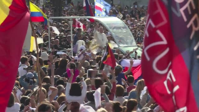 Pope Francis called for harmony among all people Friday after arriving at Portugal's holy site of Fatima where he was greeted by thousands of...
