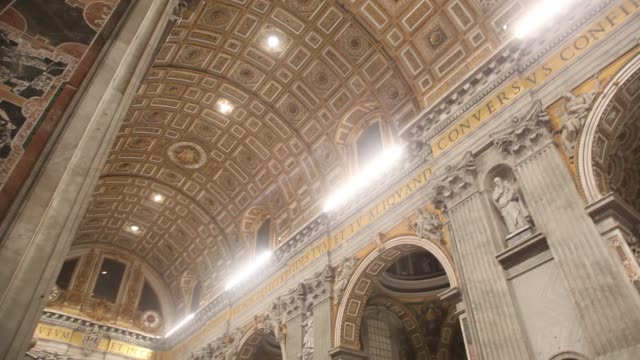 pope francis celebrates christmas night mass at st. peter's basilica on december 24, 2013 in vatican city, vatican. - religious mass stock videos & royalty-free footage