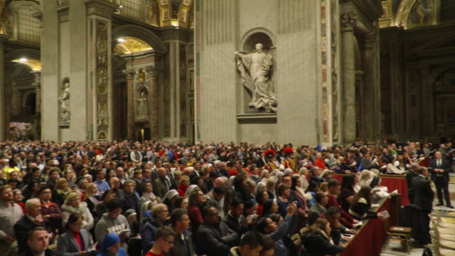 pope francis celebrates christmas night mass on december 24 2018 in vatican city vatican - pope stock videos & royalty-free footage