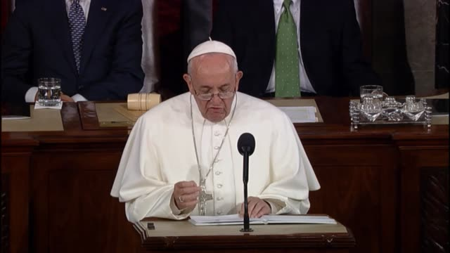 pope francis hearkens back to civil rights says the dream of martin luther king continues to inspire - martin luther religious leader stock videos & royalty-free footage