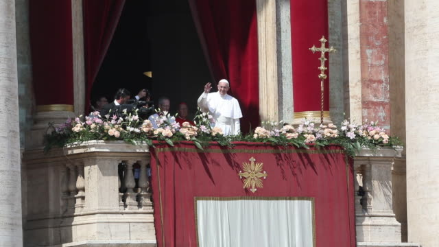 clean pope francis holds the easter mass and delivers his urbi et orbi blessing on april 16 2017 in vatican city vatican - state of the vatican city stock videos & royalty-free footage