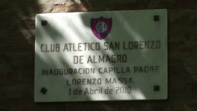 pope francis like any self respecting argentine is a big football fan of san lorenzo currently 12th in the argentine league where fans are thrilled... - religion stock videos & royalty-free footage