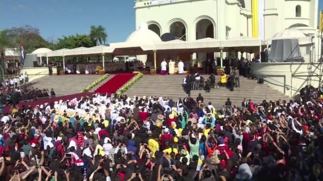 pope francis pays special tribute to paraguays women largely left widowed and orphaned during the war of the triple alliance from 1865 to 1870 during... - 1865 stock videos & royalty-free footage