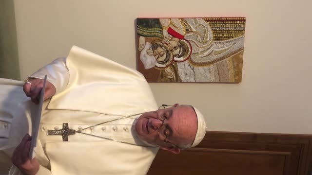 handout pope francis responds to italian bishops' appeal to pray together for the coronavirus pandemic on march 19 2020 in vatican city vatican - pope stock videos & royalty-free footage