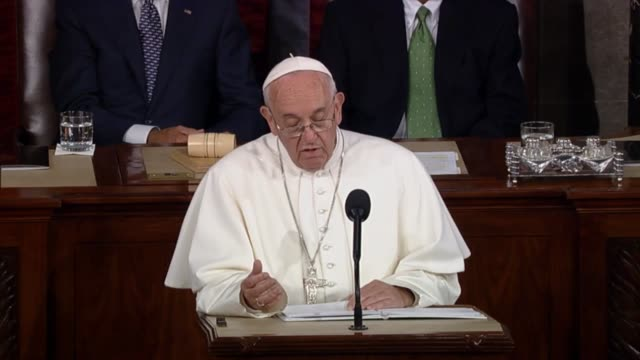 Pope Francis says that modern conflict demands that we confront every form of polarization Applause followed