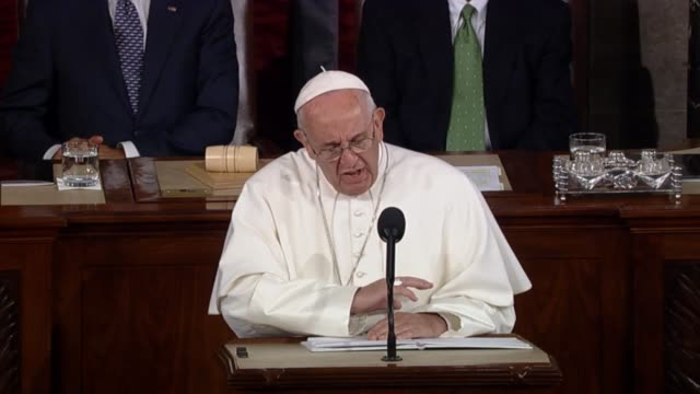 Pope Francis tells members of Congress that certain people in history offer a way of seeing and interpreting reality