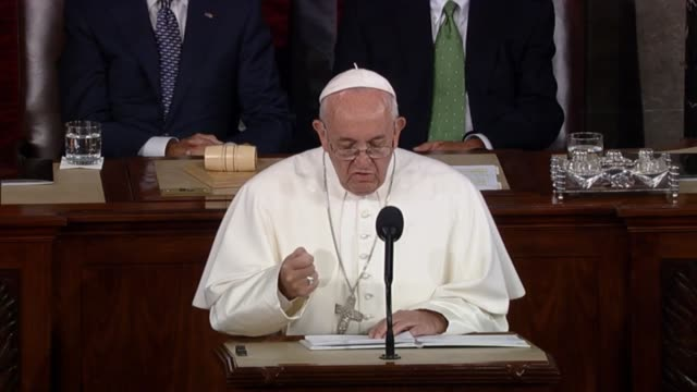 Pope Francis tells members of Congress that The effects of unjust structures and actions are all too apparent