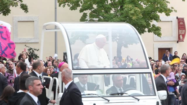 clean pope francis visits saint francis upper church in assisi on october 04 2013 in assisi italy - assisi stock videos and b-roll footage