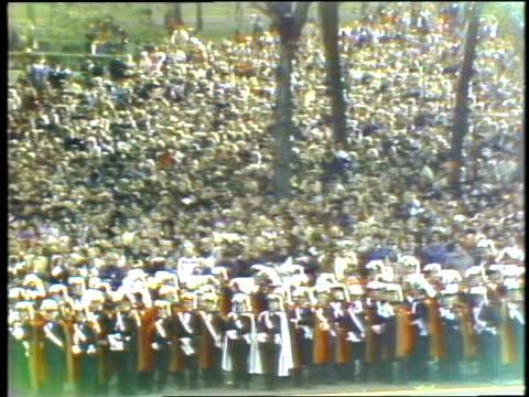 pope john paul ii visits grant park in chicago crowd watching pope john paul ii in chicago at grant park on may 31, 1981 in chicago, illinois - pope john paul ii stock videos & royalty-free footage