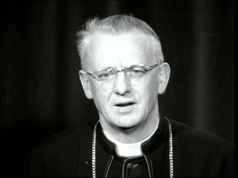pope john xxiii dead; england: john heenan statement sof - pope john xxiii stock videos & royalty-free footage