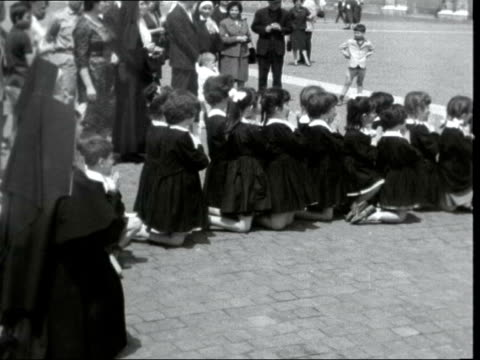 pope john xxiii dead; vatican city: st peter's square: ext gv st peter's basilica gv sailors along in square gvs crowds gv brian connell gv crowd gv... - pope john xxiii stock videos & royalty-free footage