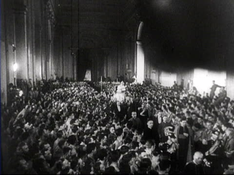 pope pius xll giving speech / vatican city italy - priest stock videos and b-roll footage