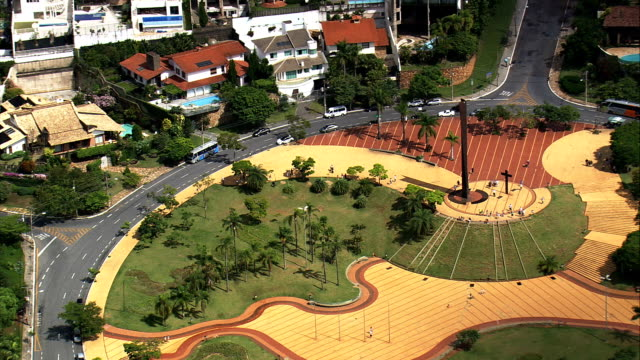 pope's square  - aerial view - minas gerais, belo horizonte, brazil - minas gerais stock videos and b-roll footage
