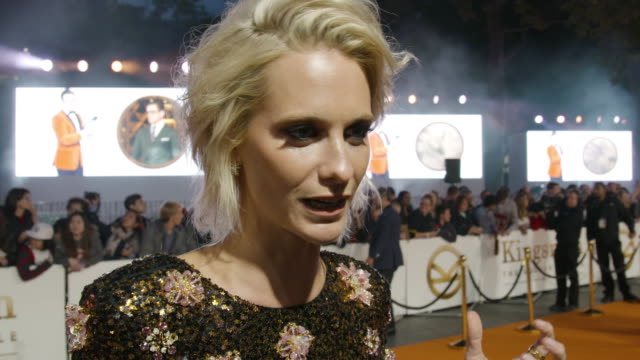 INTERVIEW Poppy Delevingne at 'Kingsman The Golden Circle' UK Film Premiere at Odeon Leicester Square on September 18 2017 in London England