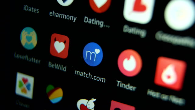 vidéos et rushes de popular dating smart phone apps 2017/2018 - application mobile