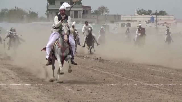 popular for centuries in south asia tent pegging has become a dying pastime in pakistan mainly kept alive in wealthy punjab province - punjab pakistan stock videos and b-roll footage