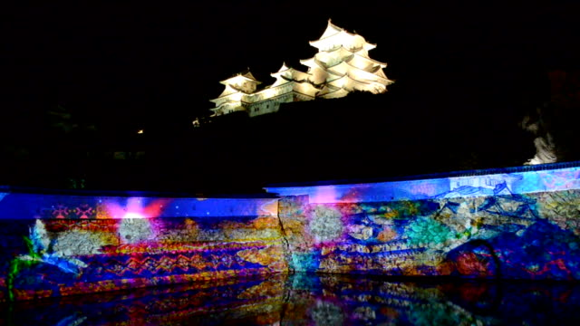popular historical site by day, himeji castle is set to attract hordes of visitors by night in december by hosting an event with a very 21st-century... - unesco world heritage site点の映像素材/bロール