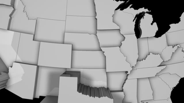 3d us population map 3 - southwest usa stock videos & royalty-free footage