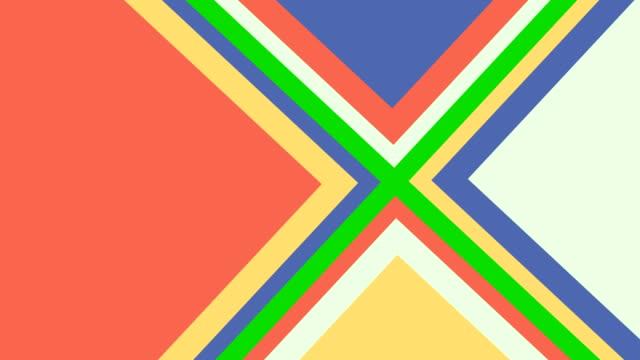 vídeos y material grabado en eventos de stock de animación de formas de triángulo emergente - geometría