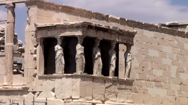 porch of the caryatids - the erechtheion stock videos & royalty-free footage