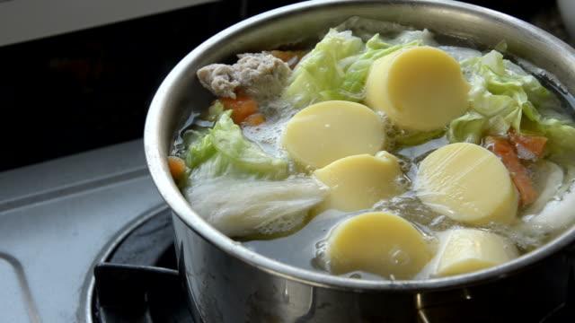 ポーク切った豆腐スープ - 煮込み料理点の映像素材/bロール