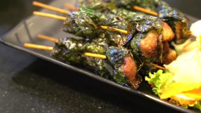 Schweinefleisch Grill mit Gemüse