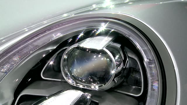 porsche 911 carrera s - headlight - personal land vehicle stock videos & royalty-free footage