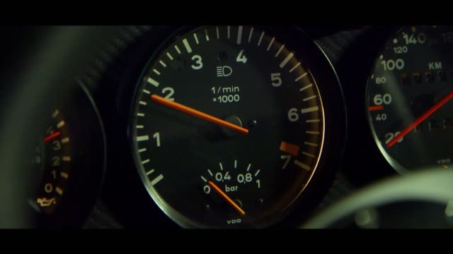 porsche 911 - dashboard - speedometer stock videos & royalty-free footage