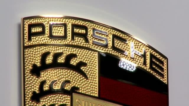 porsche - logo - logo stock videos & royalty-free footage