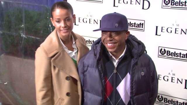 Porschla Coleman and Russell Simmons at the 'I Am Legend' Premiere at Madison Square Garden in New York New York on December 11 2007