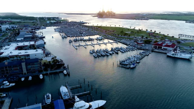 Port Aransas , Texas , USA Marina calm tranquil sunny day a perfect day to be on Padre Island