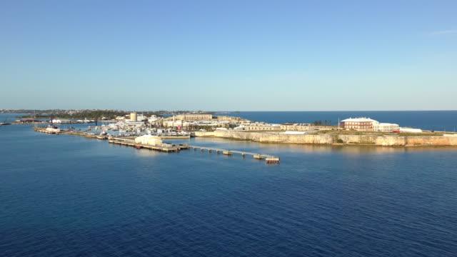 port arrival - royal naval dockyard, bermuda - bermuda stock videos & royalty-free footage