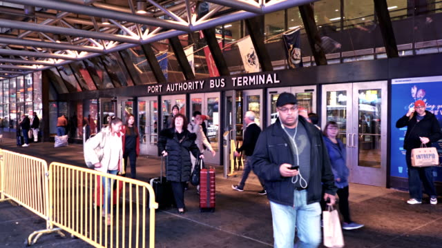 port authority bus terminal of new york - port authority stock videos & royalty-free footage