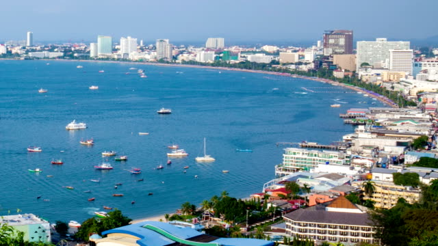 port boats of thailand time lapse. - full hd format stock videos & royalty-free footage
