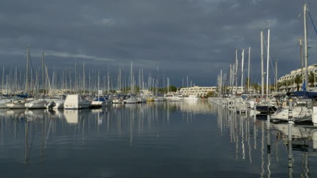 port camargue's harbor, le grau du roi, gard, languedoc-roussillon, france - 1963 stock videos & royalty-free footage