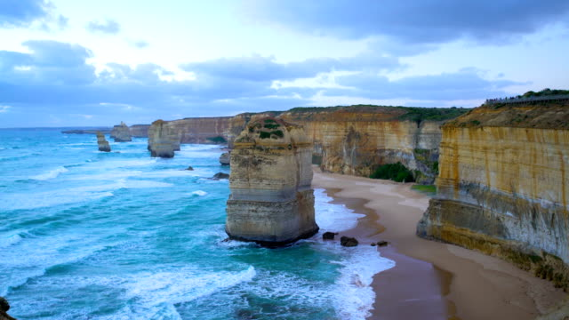 port campbell coastal erosion twelve apostles victoria australia - great ocean road stock videos & royalty-free footage