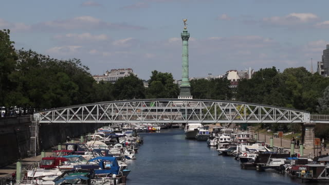'port de l'arsenal' in paris, france. - moored stock videos & royalty-free footage