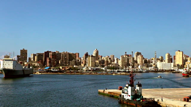 port departure - alexandria, egypt - egypt stock videos & royalty-free footage