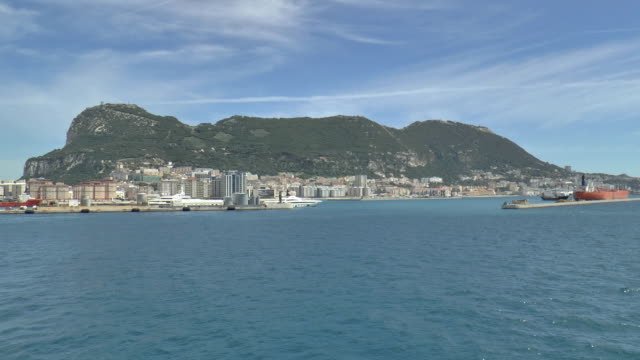 port departure - gibraltar - straits stock videos and b-roll footage