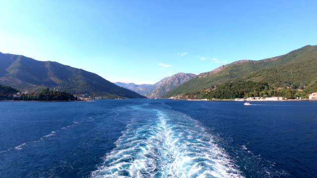 port departure - perast, montenegro - perast stock videos and b-roll footage