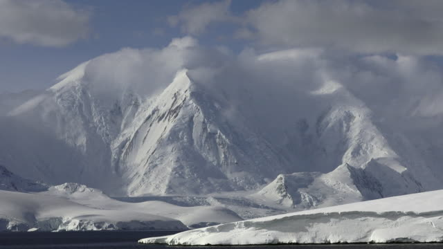 Port Lockroy mountain landscape, zoom out, Antarctic Peninsula, Southern Ocean