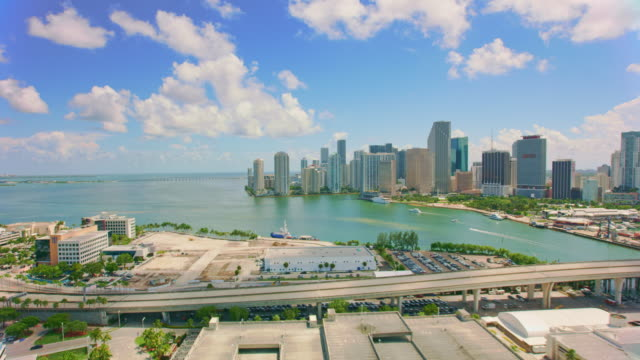 aerial port miami, florida - industrial district stock videos & royalty-free footage