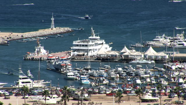 port of cabo san lucas - cabo san lucas stock videos and b-roll footage