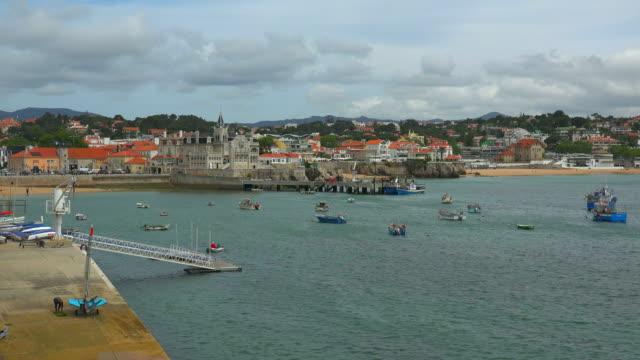 port of cascais, la costa do estoril region, portugal - エストリル点の映像素材/bロール