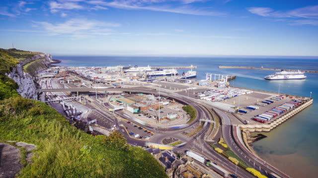 port of dover timelapse - docks stock videos & royalty-free footage