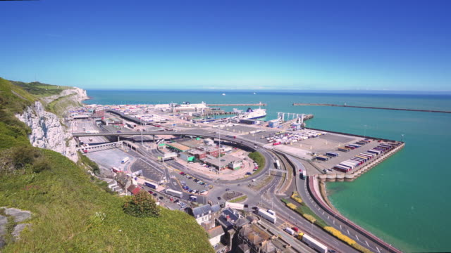 port of dover video - dover england stock videos and b-roll footage
