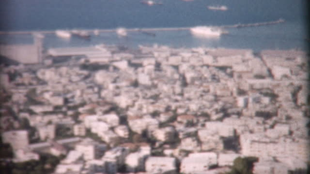 porto di haifa 1962 - haifa video stock e b–roll