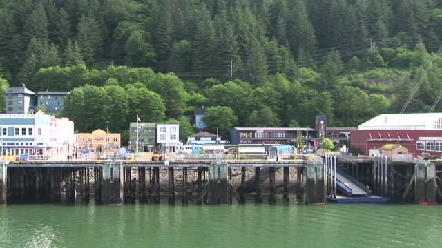 ws, pan, port of juneau, alaska, usa - juneau stock videos and b-roll footage